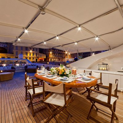 Sophie Blue Top Deck Dining