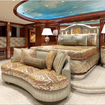 Diamonds Are Forever Yacht Master Stateroom
