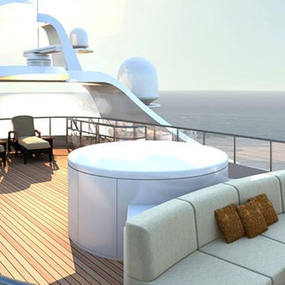 Diamonds Are Forever Yacht Sundeck - Seating