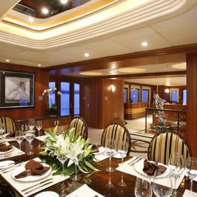 Daydream Yacht Interior Dining