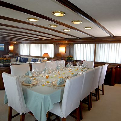 Intuition Lady Yacht Dining Salon