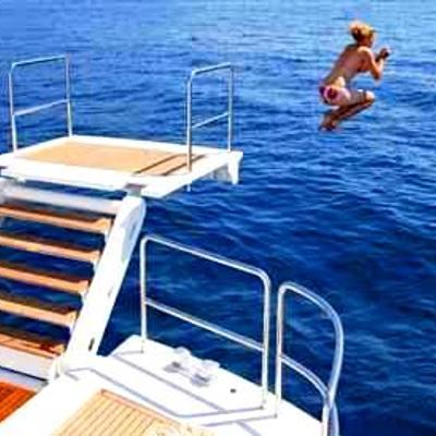 Strega Yacht Swim Platform