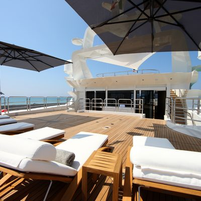 Seanna Yacht Aft Deck Lounging