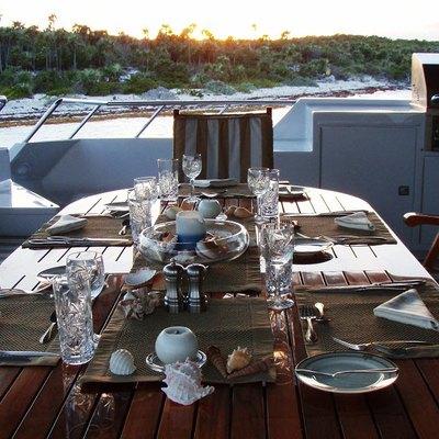 Le Montrachet Yacht Aft Deck Dining