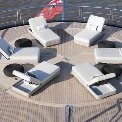 Kismet Yacht Helipad with Sunloungers