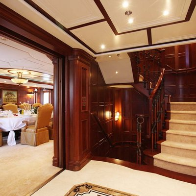 Nomad Yacht Dining Salon & Hallway