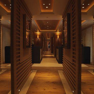 Naia Yacht Corridor - Night