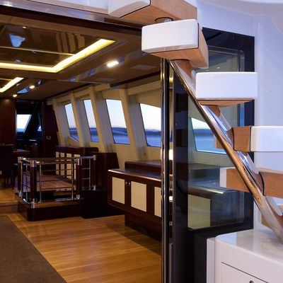 Quantum Yacht Exterior Staircase