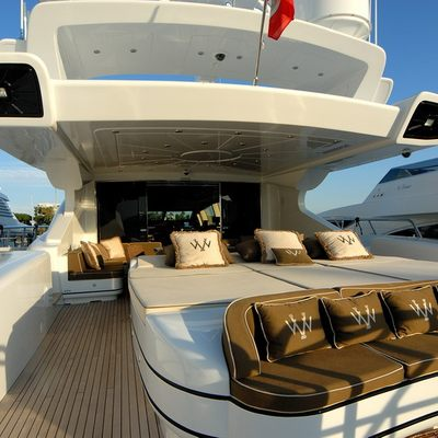 Veni Vidi Vici Yacht Deck Seating Area