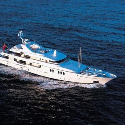Marla Yacht Running Shot - Aerial