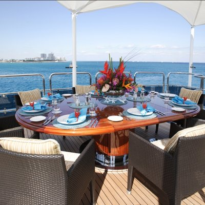 Diamonds Are Forever Yacht Exterior Dining