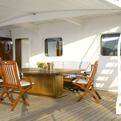 Hanse Explorer Yacht Aft Seating Area