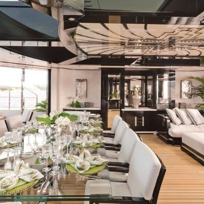 Silver Angel Yacht Interior Dining