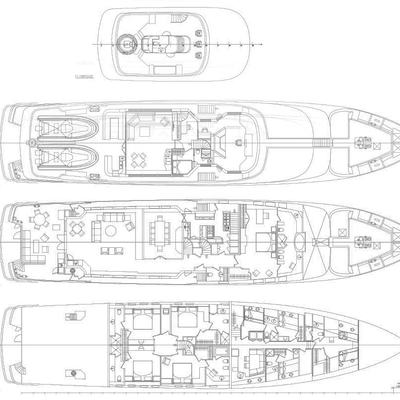 Sea Falcon II Yacht Deck Plans