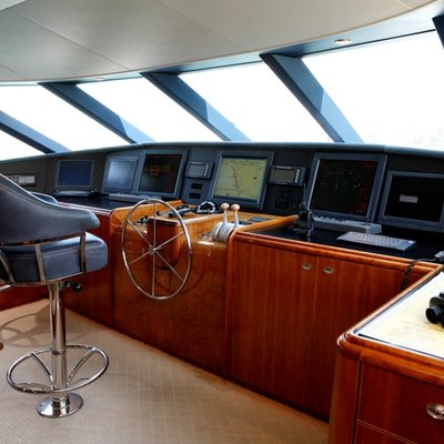 Endless Summer Yacht Pilothouse