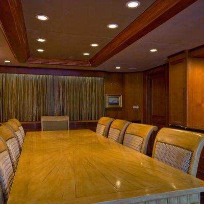 Sea Falcon II Yacht Formal Dining Salon