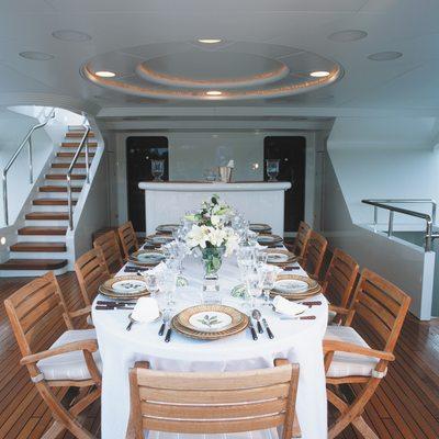 Alexandra Yacht Upper Aft Dining