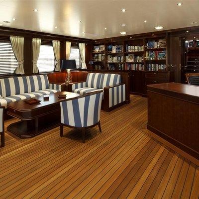 Axantha II Yacht Upper Lounge Area