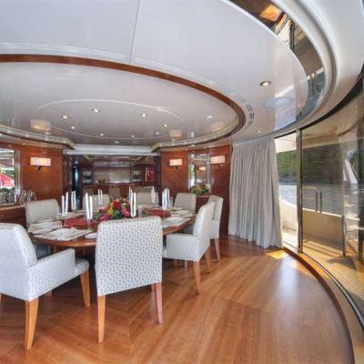 Harmony III Yacht Dining