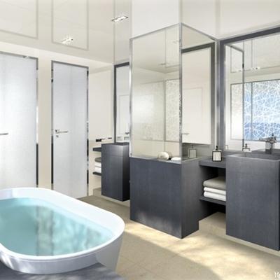 La Pellegrina I Yacht Artist's Impression - Master Bathroom