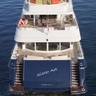 Daloli Yacht Aerial View - Aft