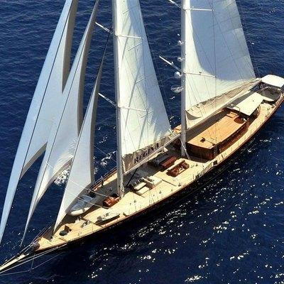 Aria I Yacht Overhead View