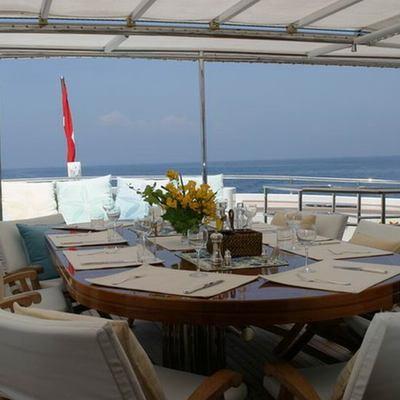 Jasmine Yacht Upper Deck Dining