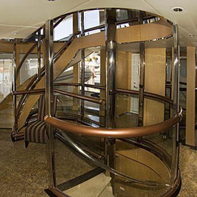 Triumphant Lady Yacht Stairwell