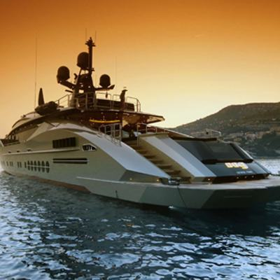 DB9 Yacht At Anchor