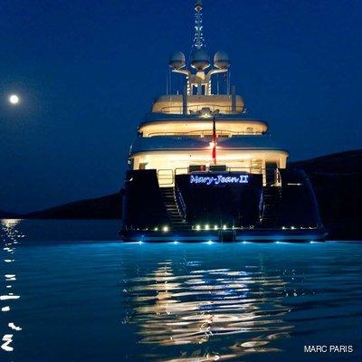 Mary-Jean II Yacht Under Water Lights