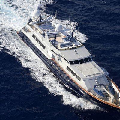 DOA Yacht Running Shot - Aerial View