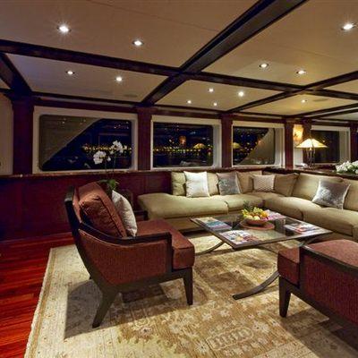 L'Albatros Yacht Main Salon by Night
