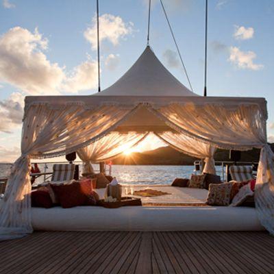 Tiara Yacht Bedouin tent