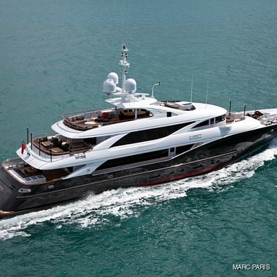 Liberty Yacht Side View - Aerial