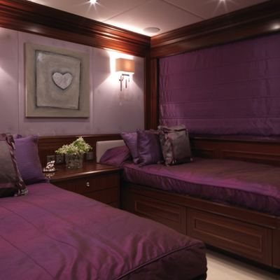 My Little Violet Yacht Twin Stateroom