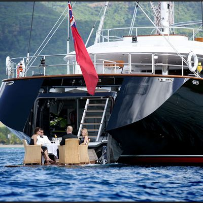 Parsifal III Yacht Dining on Swimdeck