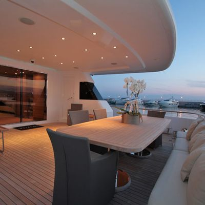 Mabrouk Yacht Aft deck