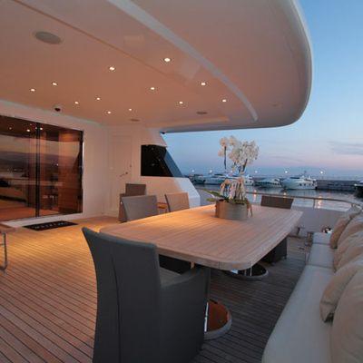 Mabrouk Yacht Aft deck