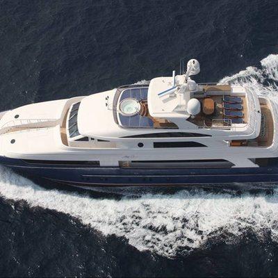 Lady Leila Yacht Running Shot - Overhead