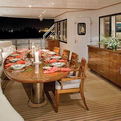 Nurja Yacht Aft deck