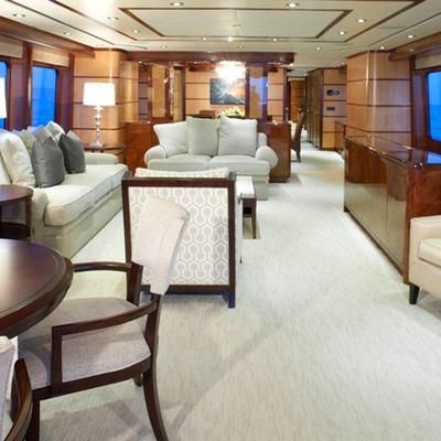 Just Enough Yacht Main Salon Looking Forward