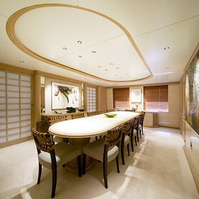 Va Bene Yacht Dining Room