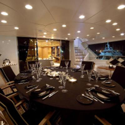 Aura Yacht Evening Dining
