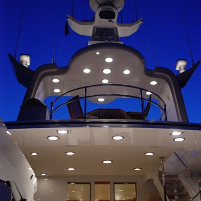 Sojourn Yacht At night