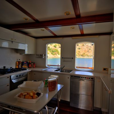 Silver Cloud Yacht Galley