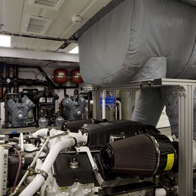 Hana Yacht Engine Room