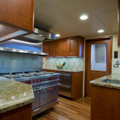 Sea Falcon II Yacht Galley
