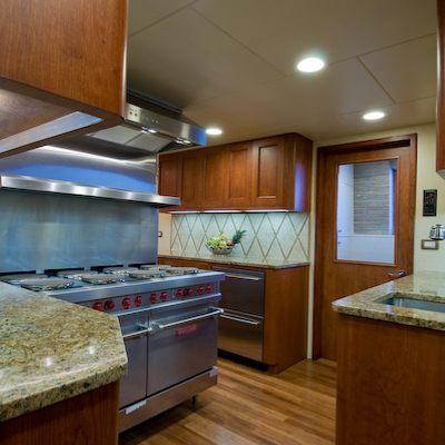 Sea Falcon II Yacht Galley