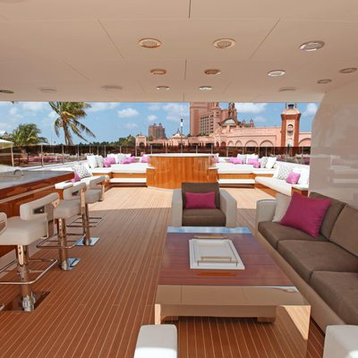 Carpe Diem Yacht Sundeck Seating Under Hardtop