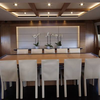 Arion Yacht Interior Dining
